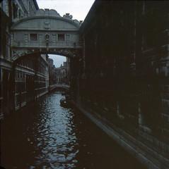 img194 (foundin_a_attic) Tags: water bridge dark venice october 1970
