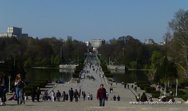 Vistas del parque desde el monumento al soldado desconocido
