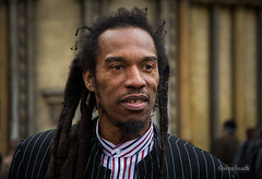 Benjamin (Sven Loach) Tags: portrait english westminster dreadlocks nikon candid photojournalism suit funeral parliamentsquare poet writer jamaican rasta activist leftwing reportage rastafarian pinstripes tonybenn stmargaretschurch benjaminzephaniah d5200 bbcqt