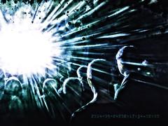 blue light people green club dark disco licht flash... (Photo: megorgar on Flickr)