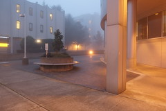 Group Health Capitol Hill Campus, Seattle (Blinking Charlie) Tags: seattle usa mist fog dawn washingtonstate capitolhill grouphealth 2013 15thavenuee blinkingcharlie fujifilmxe1