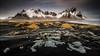 [ ,,, svartir sandar ] (D-P Photography) Tags: mountain snow storm black yellow clouds canon landscape island iceland east nd batman austurland vestrahorn ndgrad dpphotography klifatindur