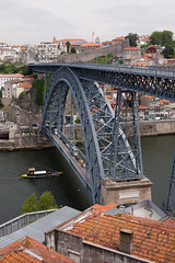 Porto, Portugal (Andrew Callaci) Tags: world old city travel bridge building portugal architecture buildings river photography boat photo europe foto photos path steel picture andrew ponte porto photograph foreign duoro canonef50mmf14usm duororiver andrewcallaci callaci cityporn