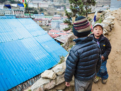 Kids Playing In Namche