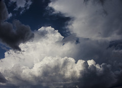 some clouds