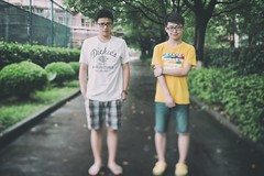 "林荫下 (敗給考試) Tags: film 35mm vintage f14 sony a7 customs 毕业 兄弟 记忆 ""shanghai samyang 复古 college"" 上海海关学院"