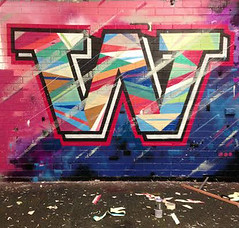 W (DaveWolfy) Tags: streetart abstract colour art word graffiti paint text australia perth type graff