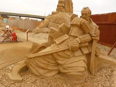 Samurai Warrior Sand Sculpture Festival Brighton Aug 2014 (Uncle Money UK) Tags: brighton august 2014 sandsculpturefestival samuraiwarrior