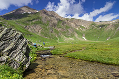 Valle del Gries 1 (Joachim S.) Tags: italy mountains trekking stream wiese berge bach piedmont wanderer formazza