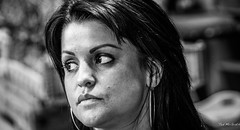 2014 - Costa Rica - Sarchi - Miss Artisan 1 of 2 (Ted's photos - Returns early June) Tags: portrait bw girl face lady fema
