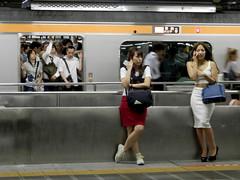 Shinjuku station (P8040029) (mr_nihei) Tags: girl beauty station japan train tokyo shinjuku railway