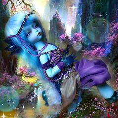 Magical Axolotl (Sakura-Streifchen) Tags: fantasy tiny bjd soom axolotl abjd paleblue anthro balljointed balljointeddoll yosd picro asiaballjointed lichtbjdwig siljedress