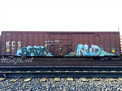 BATLE RED (UTap0ut) Tags: california art cali train graffiti paint rail socal cal graff freight 663 batle 663k utapout