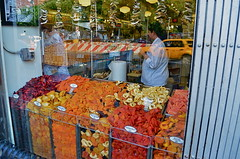 Yeah, I Need Me Some Of That... (MPnormaleye) Tags: street city nyc food reflection window glass fruit store candy manhattan candid neighborhood textures utata shops deli unposed foodie