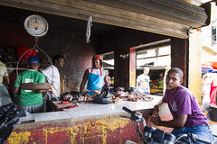 Dominicaanse Republiek (Mark Sekuur) Tags: street city market meat handelaar markt vlees higuey higey dominicaanserepubliek marktkoopman caribisch laaltagracia