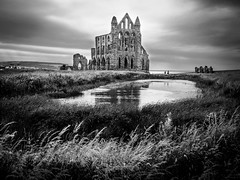 Whitby Abbey (archangel 12) Tags: uk sky blackandwhite abbey whitby whitbyabbey olympusm1442mmf3556iir olympusomdem10