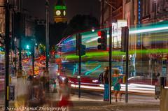 Time stands still ! but London never stops. DSC_2146.jpg (Sav's Photo Gallery) Tags: uk london trafalgarsquare buckinghampalace lighttrails whitehall westminister d7000 savash