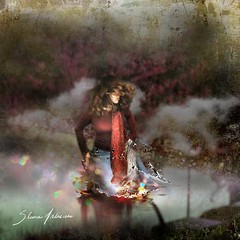 Returning from deep water (Silvia Andreasi (Images Beyond Mirror)) Tags: light red portrait woman lake blur art texture water photomanipulation hair whimsy surrealism fantasy forgotten squareformat ethereal flare mystical templozulai splash mystic whimsical spc dreamscape conceptualphotography whimsicalphotography imagesbeyondmirror silviaandreasi