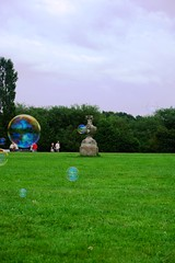 Bubbles across the park (Lee M Wyatt) Tags: park summer abbey country rufford nottinghamshire mansfield 2014