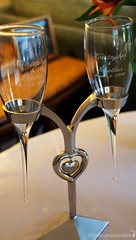 Toast (karin8700) Tags: wedding silver hearts groom glasses bride nikon wine sweet toast champagne ceremony marriage reception engraved holder d7100