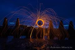 IMG_5420A-600 (AdrianMaricic) Tags: sunset red sea orange black wool painting scotland wire edinburgh fife teeth tide low dragons estuary forth sparks tidal defences cramond lght estuarine dfens