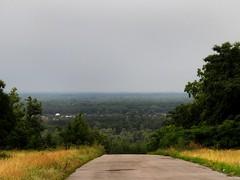 IMG_6928 (verruckteinzelganger) Tags: road wood blue summer sky tree green nature grass yellow forest hill ukraine montain        poltava      oposhnya