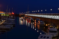 Waterfront, St Helier Jersey. (Lee1885) Tags: nightphotography sea water boats harbour jersey yachts channelislands