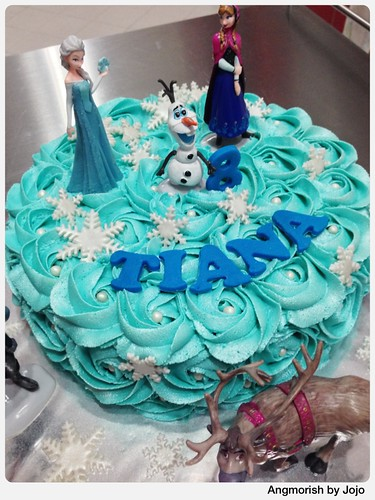 Fine Disney Frozen Birthday Cake Tiana A Photo On Flickriver Funny Birthday Cards Online Aeocydamsfinfo