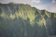 The Sun Exposes the Mountainside from the Nu'uanu Pali Lookout on Oahu (marantzer) Tags: usa digital hawaii nikon unitedstates pacific unitedstatesofamerica kaneohe pacificocean nikkor dslr palilookout 70200mm nikkorlens nikonlens nuuanupalilookout d810 afsvrzoomnikkor70200mmf28gifed nikond810 solmeta nu'uanupali marantzer geotaggerpro2 solmetageotaggerpro2