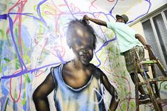 Rio de Janeiro/RJ (Rato Diniz) Tags: streetart muro brasil riodejaneiro hospital cores graffiti rj arte grafiti cor corredor painel nise hospicio artederua sade arteurbana engenhodedentro saudepublica rataodiniz hospitalpsiquiatrico sade institutonisedasilveira hoteldaloucura