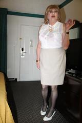 new102729-IMG_0619t (Misscherieamor) Tags: tv feminine cd motel tgirl transgender mature sissy tranny transvestite crossdress ts gurl tg travestis travesti travestie m2f pencilskirt xdresser tgurl sheerblouse