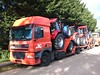DE ROOY DAF CF IN ASHFORD KENT UK (Damien Maddocks BMX kid) Tags: orange truck transport lorry delivery chassis carry transporter carrying derooy