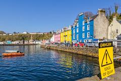 Tobermory (Luca Quadrio) Tags: ocean travel blue sea sky water port island bay scotland europe waves cityscape colours unitedkingdom atlantic mull isle regnounito tobermory 2014 scozia
