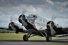 Junkers JU52 (AdrianH Photography) Tags: nikon aviation duxford warbirds cambridgeshire airshows