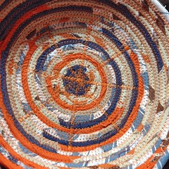 "This photo is for all of you who were hoping that I would stitch together a basket that had a little orange in it.  Here's what's going on at the sewing machine right now... • <a style=""font-size:0.8em;"" href=""http://www.flickr.com/photos/54958436@N05/15067735265/"" target=""_blank"">View on Flickr</a>"