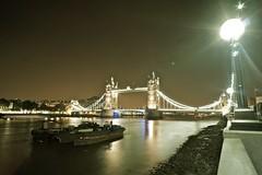 Tower Bridge & light trails (Sacha Alleyne) Tags: nightphotography bridge london thames night towerbridge lighttrails riverthames