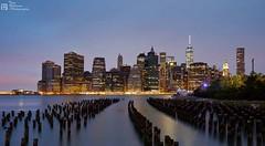 New York (Tony.Robinson LRPS) Tags: nyc longexposure newyork brooklyn waterfront manhattan citylights brooklynbridge newyorkskyline oldjetty worldtradecentre freedomtower