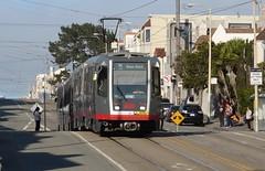 MUNI 1537B on the 'N' Line (Deadman's Handle) Tags: sanfrancisco tram streetcar