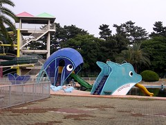 Whale water slide & dolphin water slide  (MRSY) Tags: japan dolphin  whale osaka sakai