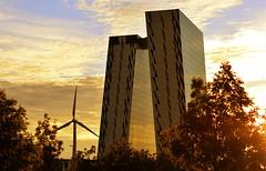 Twin peaks (domas.dranginis) Tags: sky building architecture copenhagen denmark 50mm nikon warm bella d3200 bellasky