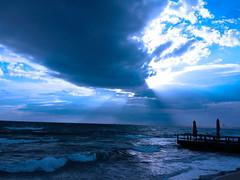 Bad weather (ricmain) Tags: blue sea sky cloud weather italia mare nuvola blu bad cielo tempo gallipoli puglia miniero brutto