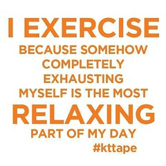 Who can relate? #kttape (Recover Faster, Play Harder) Tags: relaxing tape quotes motivation workout kt pushyourself kttape