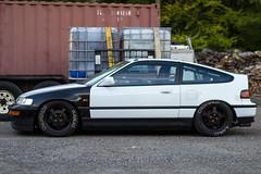Jay's CRX Side Profile (moonermoon) Tags: japan racecar panda interior si crx civic form ef function jdm ef9