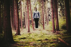 UNROOT (bastisellner) Tags: forest photography experiment surreal conceptual levitate