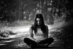 I saw you... (Margot in Love) Tags: bw blackwhite teen horror teenager grusel schwarzweis