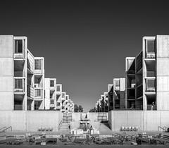 Looking back (Chimay Bleue) Tags: bw white black architecture modern louis back looking view rear modernism institute kahn reverse jonas salk brutalism modernist brutalist midcentury barragan