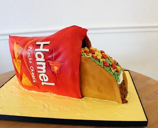 Taco in chip bag groom's cake