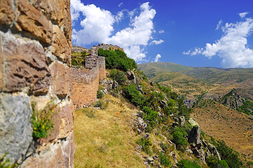 Along the ancient fortress wall, Smbataberd