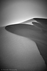 Signing_Dunes (Paterdimakis) Tags: sand shadow sun sky desert dune bw black blackwhite blackwhitephotos white fine art landscape light line shape curve