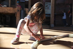 The girls working on a water contraption 3 (Aggiewelshes) Tags: october 2016 lehi utah travel museumofnaturalcuriosity thanksgivingpoint waterworks jovie